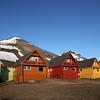 Longyearbyen at midnight