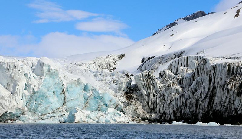 Detail of the glacier face in Hornsund