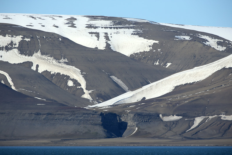 The canyon at Diskobukta where there is a huge kittiwake colony