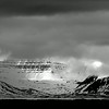 Svalbard scenery in monochrome