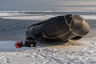 Landing on sea ice