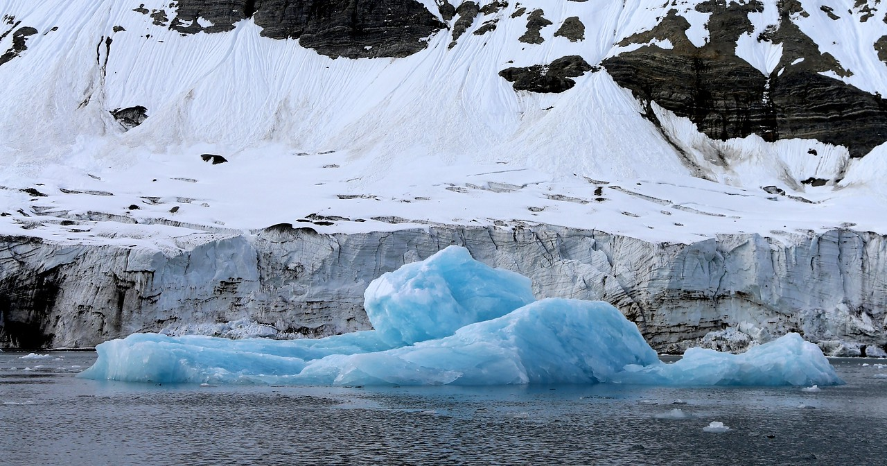 Blue iceberg in Hornsund