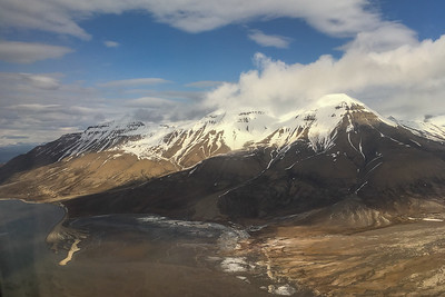 Flying in to Longyearbyen, Svalbard