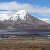Spectacular scenery looking across Adventdalen from the hillside outside Longyearbyen