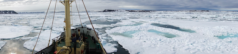 The M/S Malmo going through pack ice