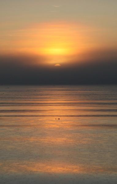 Midnight sun in Hinlopenstretet