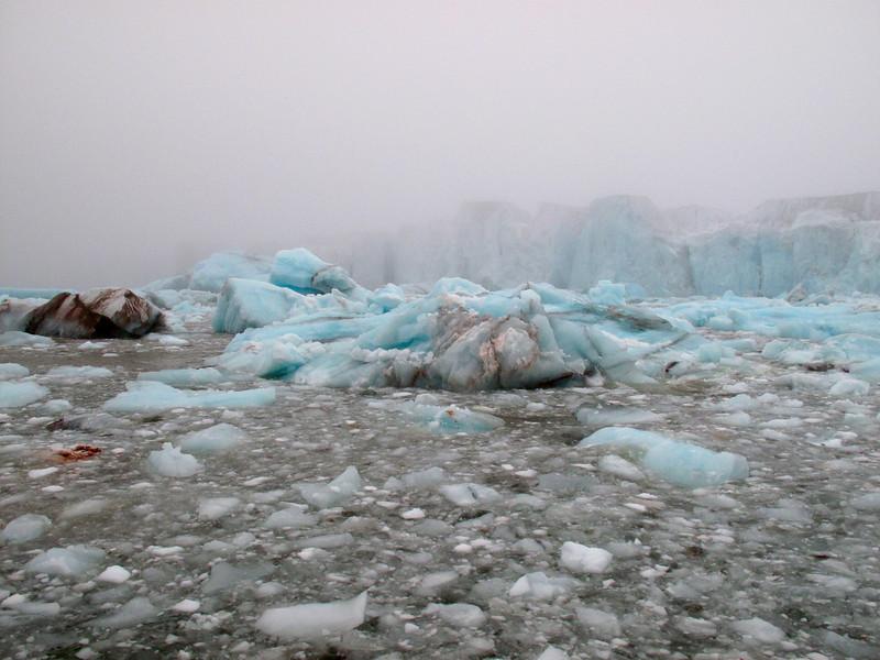 Dirty ice near Brasvelbreen