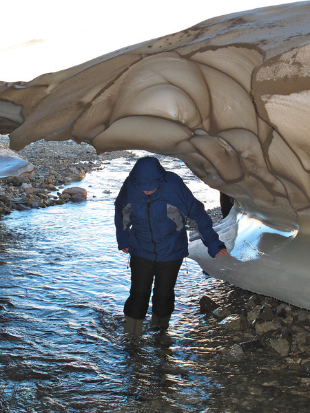 Entrance to an ice cavern near Claravagen
