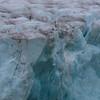 The Schweigaardbreen glacier face in Albertinibukta in mist