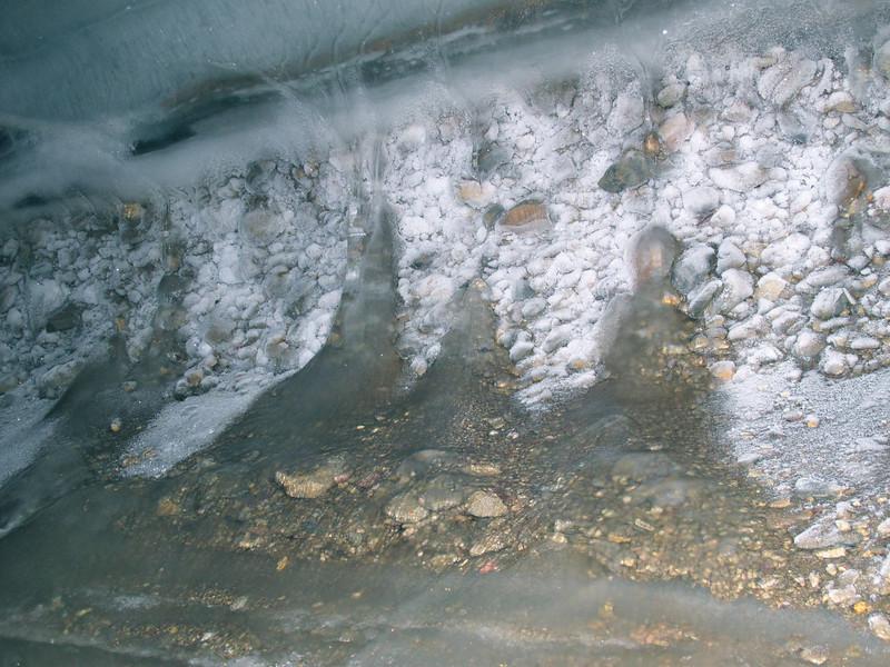 Inside the ice cavern near Claravagen