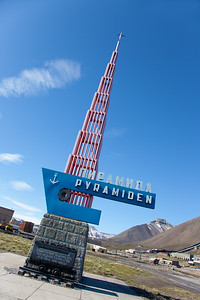 The abandoned Russian mining town of Pyramiden which was closed down in 1997. More people lived and worked there in the past than do in Longyearbyen today.