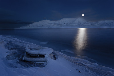polar night seascape