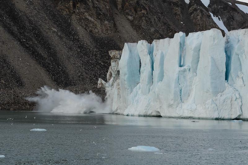 Glacier calving, Svalbard