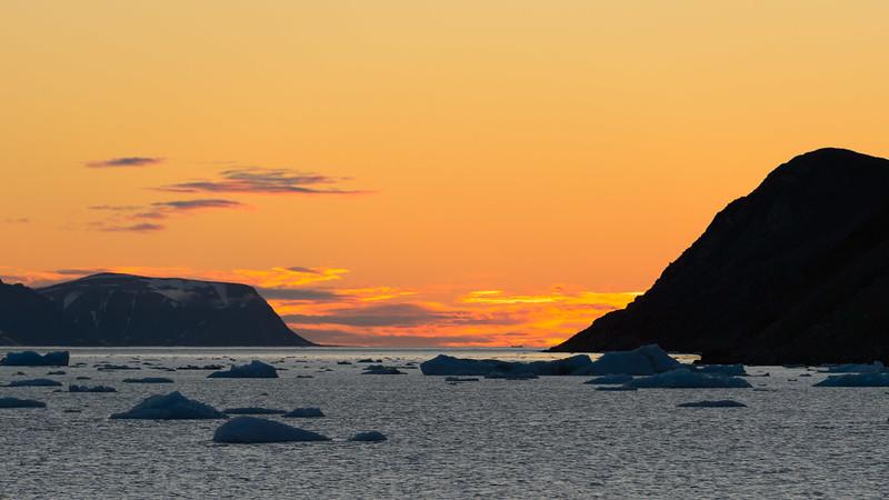 Sunset, Svalbard