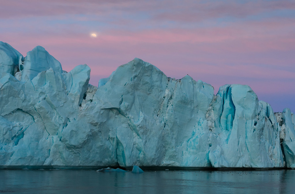 Moonlit ice, Svalbard