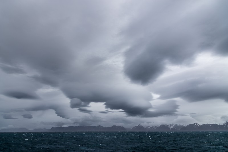 Lenticular clouds over west Spitsbergen