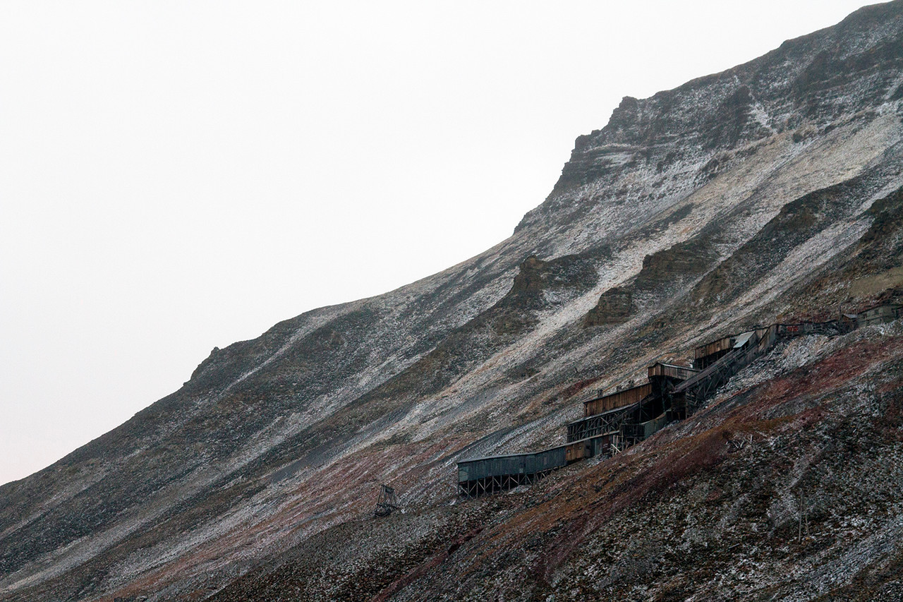 old mine in longyearbyen