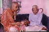 Receiving Diksha Beads from Shrila Gurudeva