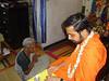 Bilvamangala Thakura dasa and family and neighbours accepting Nityananda Gauranga Mahadiksha