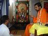 Bilvamangala Thakura dasa and family and neighbours accepting Nityananda Gauranga Mahadiiksha