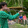 Austin Uhr, 16, shots a handmade blowdart at a target while competing with his fellow Boy Scouts on Island Outpost in Lake Fausse Pointe State Park near Loreauville, LA, Thursday, July 3, 2014. The Scouts created their own darts for the target competition with the winner receiving an official patch and letter from the Chitimacha Tribe of Louisiana in recognition of their observance of tribal hunting traditions. <br /> <br /> Paul Kieu, The Advertiser