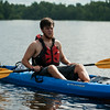 Trek guide Robert Donadieu leads a pack of kayakers on the BSA Swamp Base trek through the Atchafalaya River Basin near Henderson, LA, Tuesday, July 1, 2014. <br /> <br /> Paul Kieu, The Advertiser