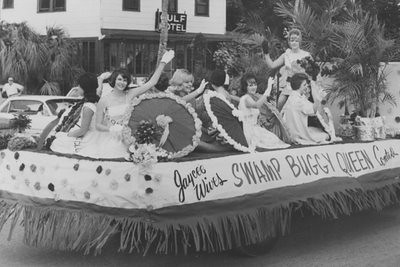 Swamp buggy queen in parade 1966