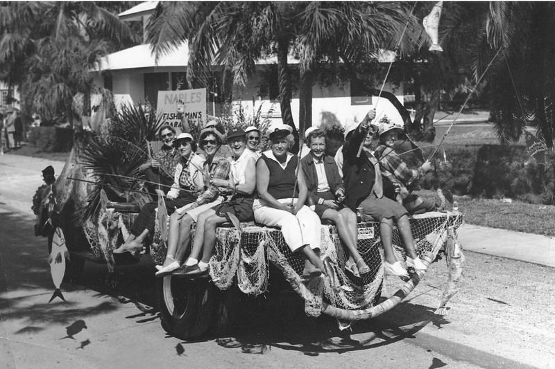 Swamp Buggy Parade - featuring City Historian Doris Reynolds in 1954