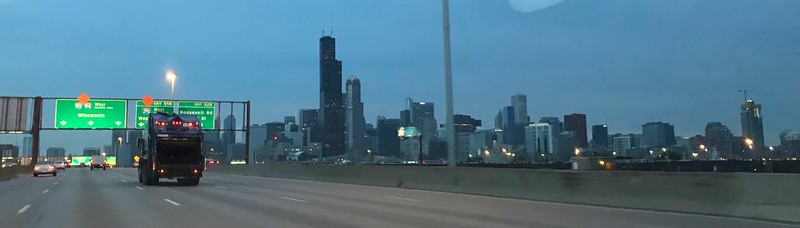 In the very early Saturday morning I was driving through downtown Chicago.