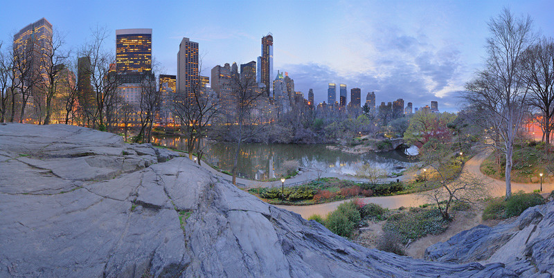 Nightfall at The Pond, Central Park, NYC