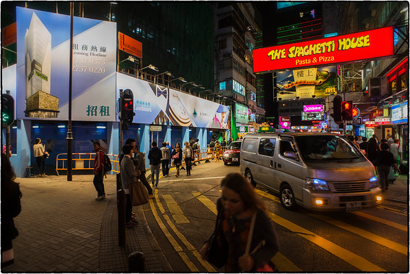 Streets Hong Kong @ night