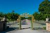 A golden gate to the gardens at Drottningholm Palace, near Stockholm, Sweden.