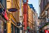 An old town street in Gamla Stan, Stockholm, Sweden.