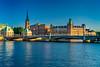 The Riddarholmen Church and bridge in Gamla Stan, Stockholm, Sweden.