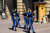 Changing of the guard at the Royal Palace and Museum in Stockholm, Sweden.