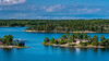 A scenic view of islands and waterways near Stockholm, Sweden.