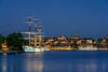 The Af Chapman Schooner at night  in Stockholm, Sweden.