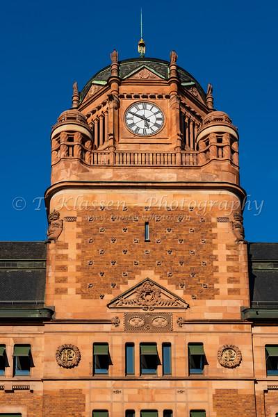 The Central Post Office building in Stockholm, Sweden.