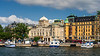 Buildings and architecture along the Strandvaegen in Stockholm, Sweden.