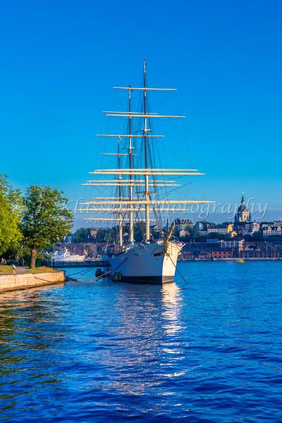 The Af Chapman Schooner in Stockholm, Sweden.