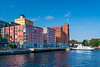 The Saltsjöqvarn ferry port near Stockholm, Sweden.