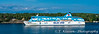 A small cruise ship of the Silja Line in a waterway near Stockholm, Sweden.