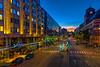 An evening view of Vasagatan Street in downtown Stockholm, Sweden.