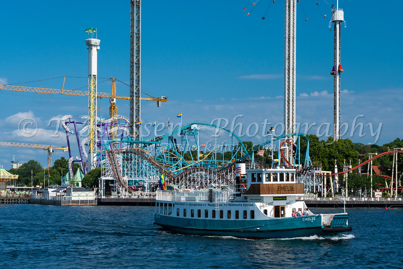 The Goena Lund amusement park in Stockholm, Sweden.