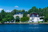 An historic mansion along the waterfront in Stockholm, Sweden.
