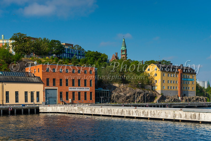 The Finnboda hamn brygga fery terminal near Stockholm, Sweden.