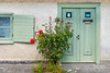 A decorative door and home in Visby, Gotland, Sweden.