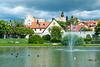 Park Almedalen in Visby, Gotland, Sweden.