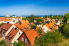 Red roofs in the skyline of Visby, Gotland, Sweden.