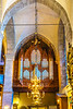 The pipe organ and interior view of the Visby Cathedral in Visby, Gotland, Sweden.